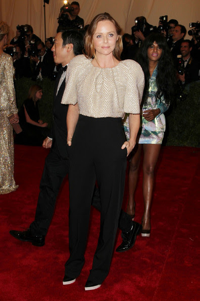 Stella McCartney Stella McCartney walks the red carpet at the Met Gala at the Metropolitan Museum of Art in NYC.