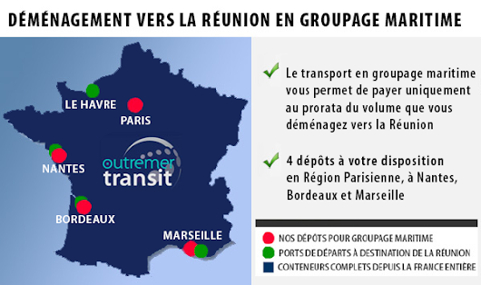 Groupage Réunion - Outremer Transit-Transport maritime et demenagement international
