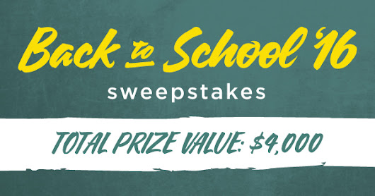 Bluenotes Back to School 2016 Sweepstakes - Shopping Parrot