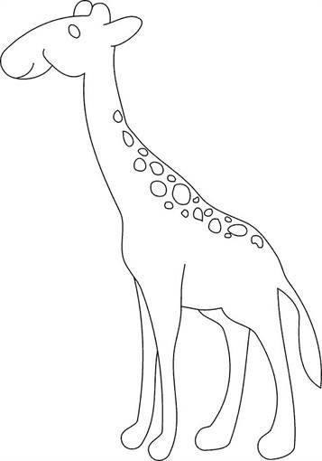 giraffe zum ausmalen
