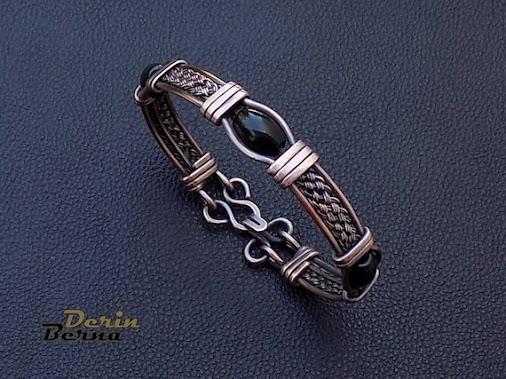 Onyx and copper men bracelet  #menbraceletstyle , #mencoppercuff , #mensfashion , #menstyle , #bracelete...