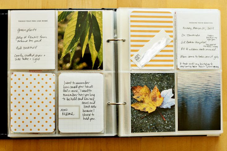 Project Life 6x8 album with 3x4 page protectors - thehandcraftedstory.com