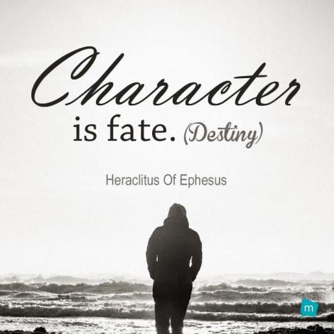 Heraclitus Of Ephesus Quote Destiny Quote Character Is Fate