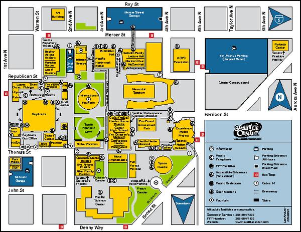 Seattle City Center Washington Map Seattle Wa  E2 80 A2 Mappery