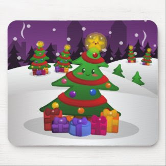 Cheery Christmas Tree Mousepad mousepad