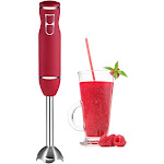 Chefman 300W Rubberized Hand Immersion Blender - Red RJ19-RBR