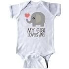 Inktastic My Gigi Loves Me Grandchild Gift Infant Creeper, Infant Unisex