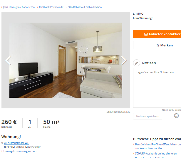Immobilienscout24: Wohnungsbetrug.blogspot.com: L. IMMO Frau Wohnung! Im
