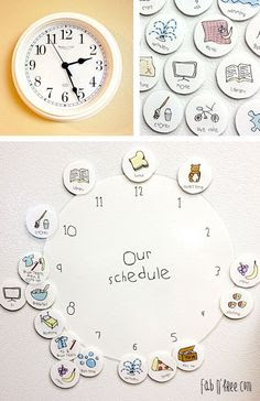 Made my 3 year old a clock to show him his daily routine   kids at ...