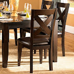 Weston Home Crown Point Side Chairs - Merlot - Set of 2