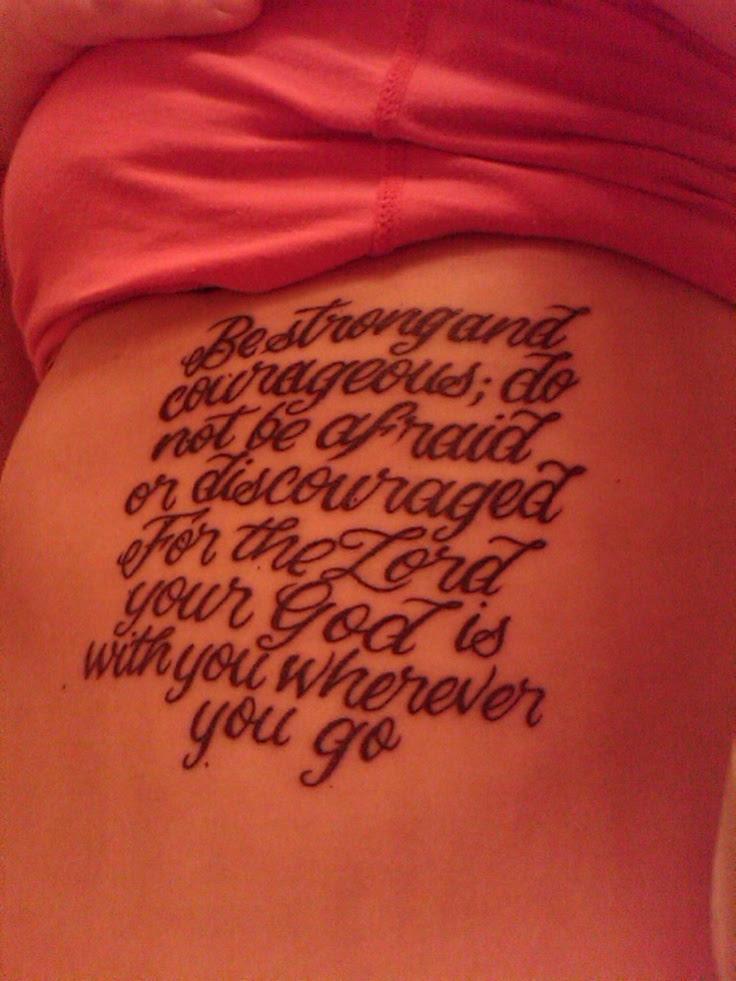 Similiar Joshua 1 9 Tattoo Upper Back Keywords