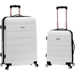 Rockland 2-Piece Expandable ABS Spinner Set White