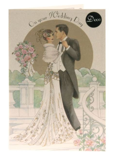 Art deco cards, Wedding couples and Deco on Pinterest