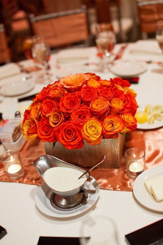 Burnt orange decor - so pretty