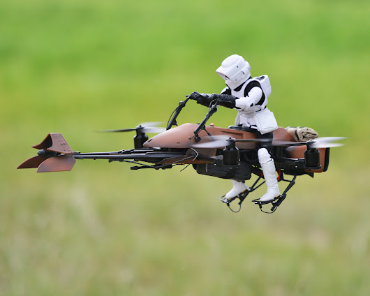 FPV Star Wars Speeder Bike Quadcopter Puts You in the Driver's Seat - Make: