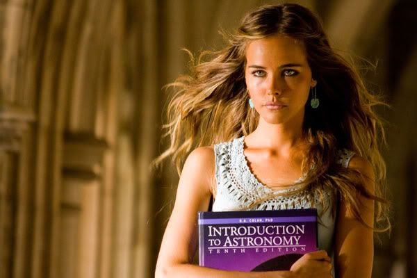 Isabel Lucas, who plays Sam's college classmate, Alice (a Decepticon 'Pretender').