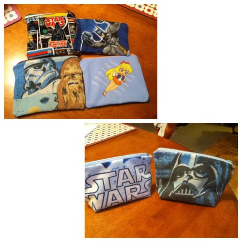More finished pouches.