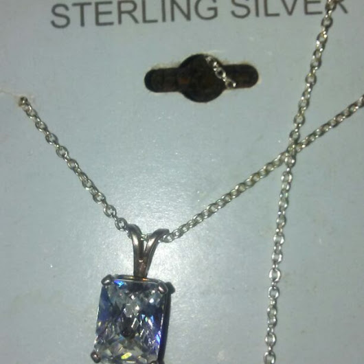 SterliStesilver necklace  clear stone($ 13) - Mercari: Anyone can buy & sell