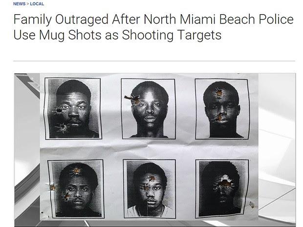 Imagem da rede de TV NBC6 mostra o alvo que teria sido usado por policiais nos Estados Unidos (Foto: Reprodução/Site NBC6)