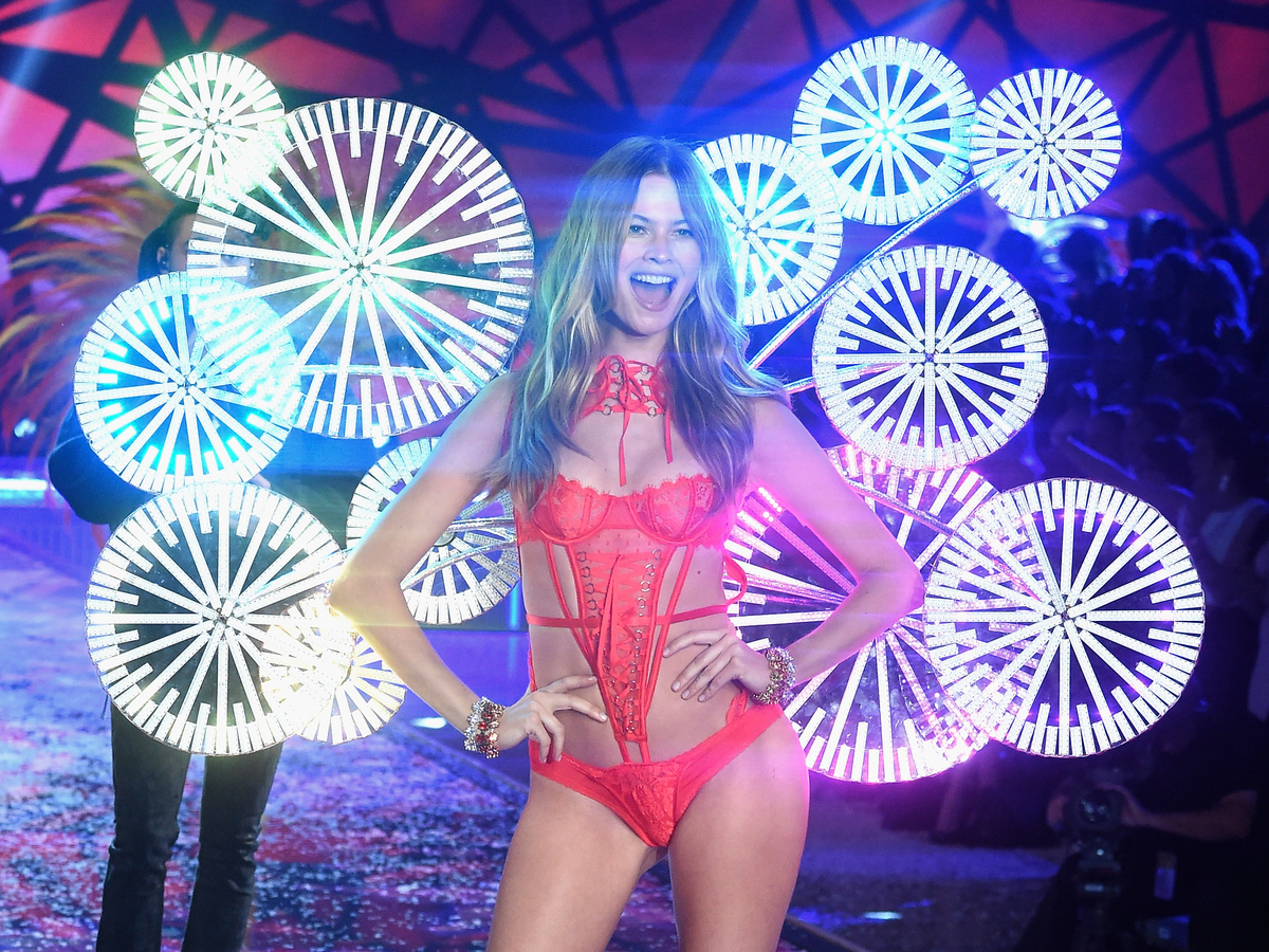 Behati Prinsloo showed off an outrageous costume.