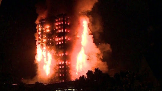 London tower block fire: Flames engulf Grenfell Tower - BBC News