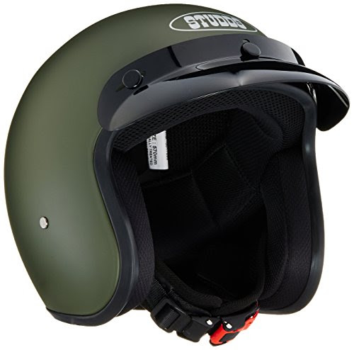 Studds Jetstar Classic Half Helmet (Military Green, M) - Royal Enfield Spares