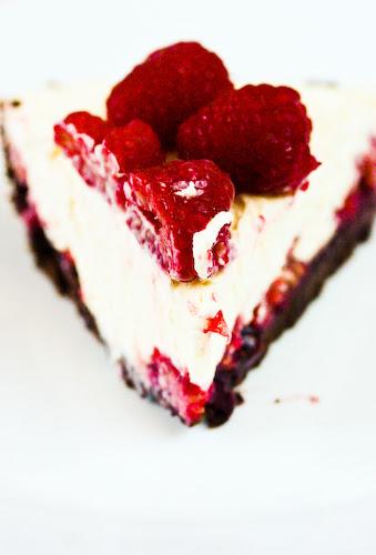 Raspberry white chocolate tart slice (1 of 1)