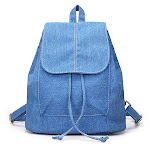 Womens Denim Backpacks, Small, Various Color Washes, Light Blue from Gifts Are Blue
