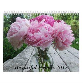 Peonies 2012 Calendar Floral Flowers calendar
