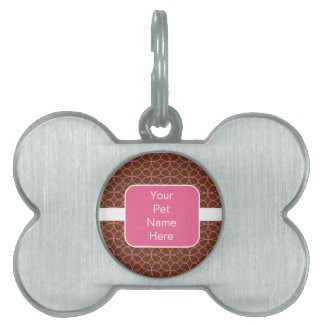 Personalized Pink Pet Tag