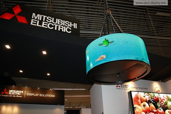 Mitsubishi creates curved OLED for retail installations, wouldn't fit in your living room anyway