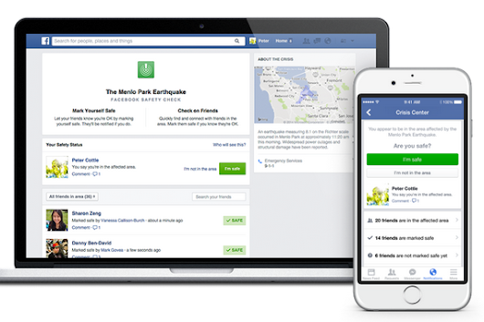 Facebook Introduces 'Safety Check' Feature For Natural Disasters