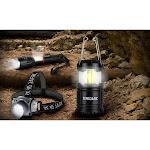 Zerodark 3 Piece Tactical Set: Lantern, Flashlight, Headlamp