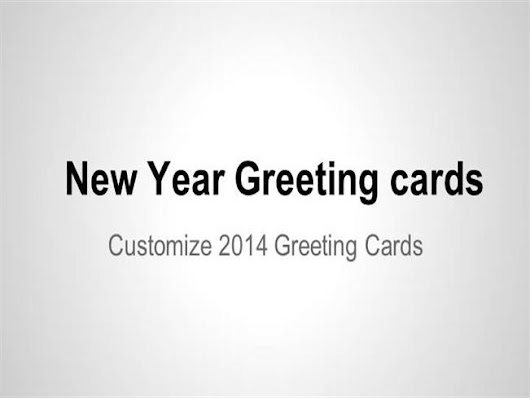 Personalize Greeting Cards for New Year Ppt Presentation