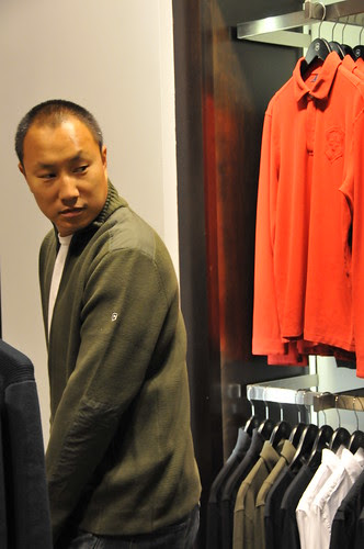 Dinh at the victorinox store