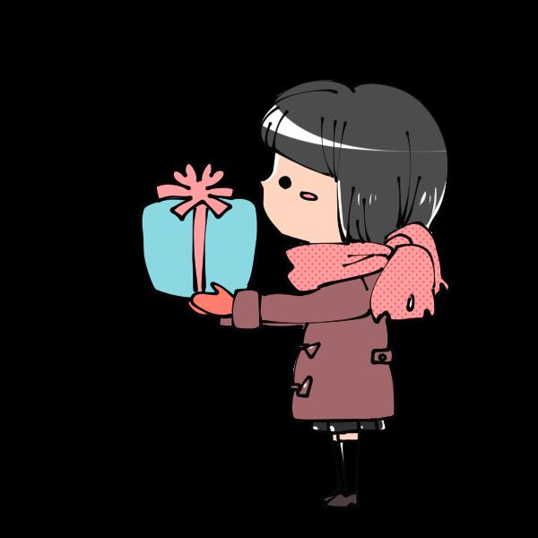 プレゼントを渡している女の子のイラスト かわいいフリー素材が無料のイラストレイン