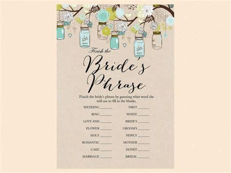 Rustic Mason Jars Bridal Shower   Magical Printable