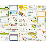 Pack of 60 Lunch Box Notes For Kids Boys Girls From Mom and Dad, Colorful Inspirational and Motivational School Lunchbox Stickers Labels Cards, 2 x