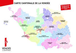 Carte Des Cantons Et Des Communes Cd 85