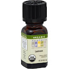 Aura Cacia Organic Lemon Oil - 0.25 fl oz bottle