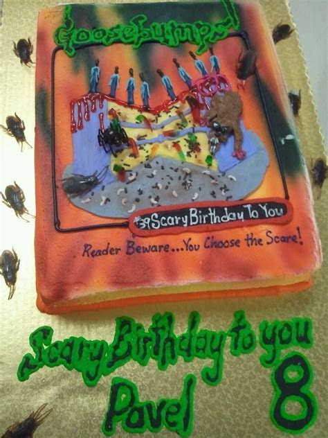 Goosebumps birthday cake   Goosebumps   Pinterest