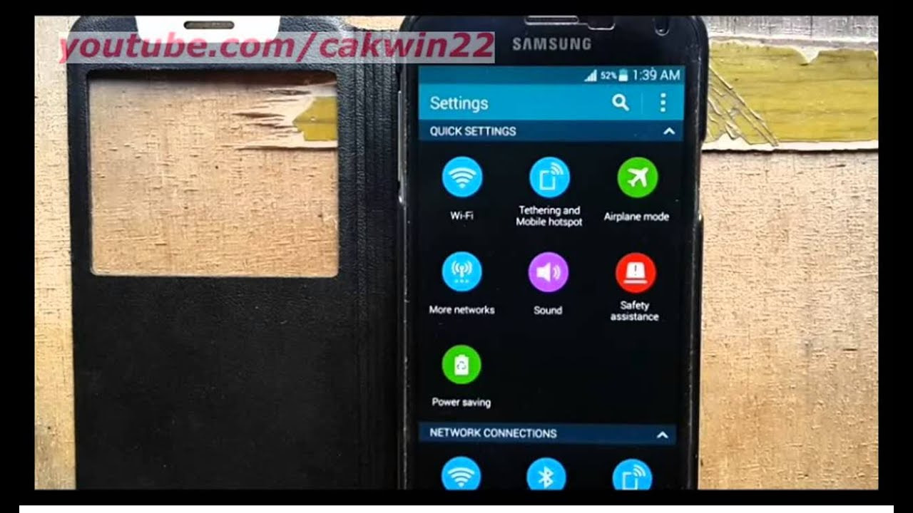 Samsung Galaxy S5 : How to turn on/off notification ...