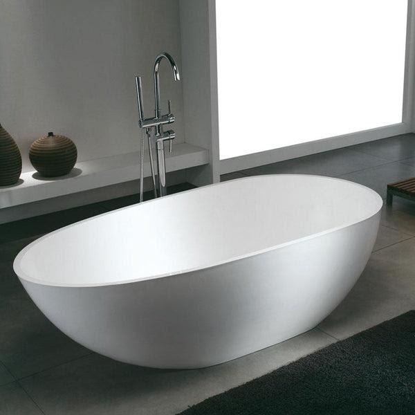 Baignoire Ilot Design En Solid Surface Ovale Stockholm Swissbain