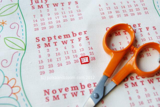 2013 calendar - Polka & Bloom