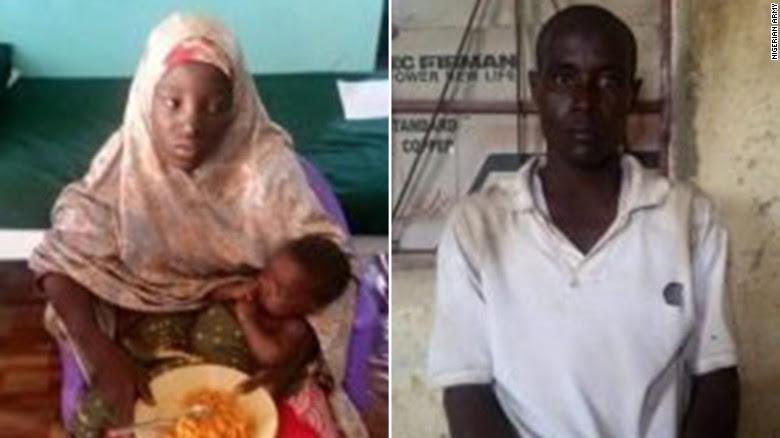 Amina Ali was found with a suspected Boko Haram terrorist named Mohammed Hayatu.