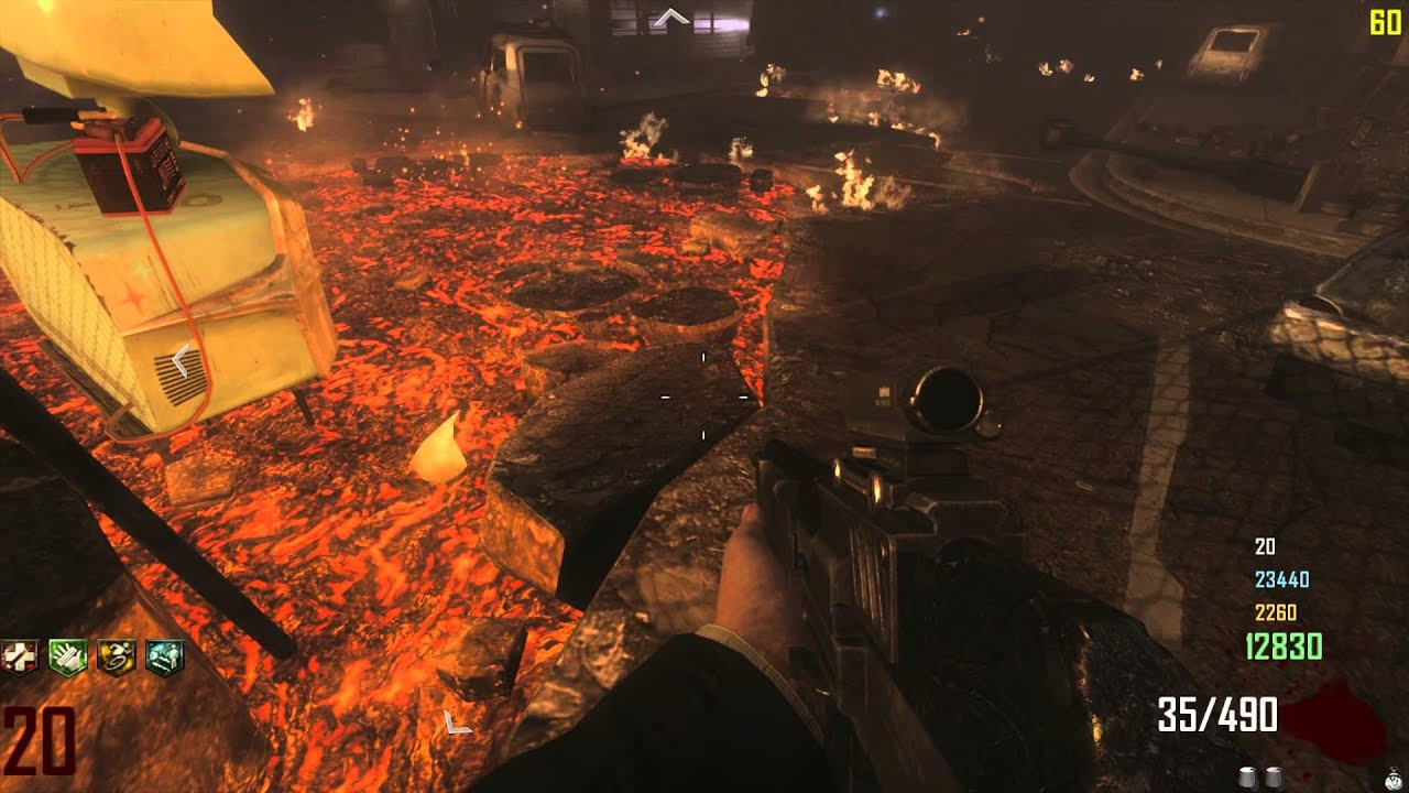 Call Of Duty Black Ops 2 Zombies Town 4 Player Gameplay To