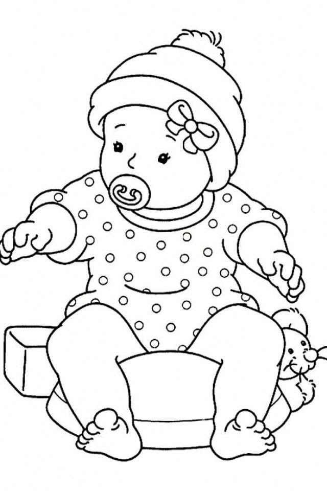 Baby Girl Coloring Pages - Coloring Home
