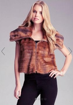 Bebe Faux Fur Reversible Vest