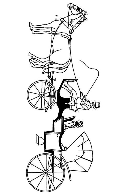Dibujo Para Colorear Carro De Caballos Img 18880