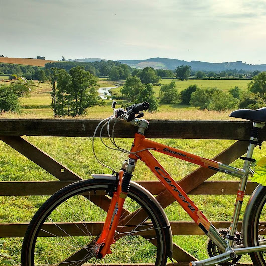 Summer #cycling and #cyclingholidays near #ludlow in Teme valley. Always stop to look over the gate. The views are a reward for #cycling. Choose a #summer #cycletour from http://ift.tt/1iY4KfS